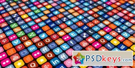 Social Media Icons Grid 156543 Motion Graphics