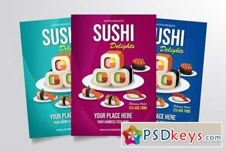 Sushi Delight Flyer Template 3331187
