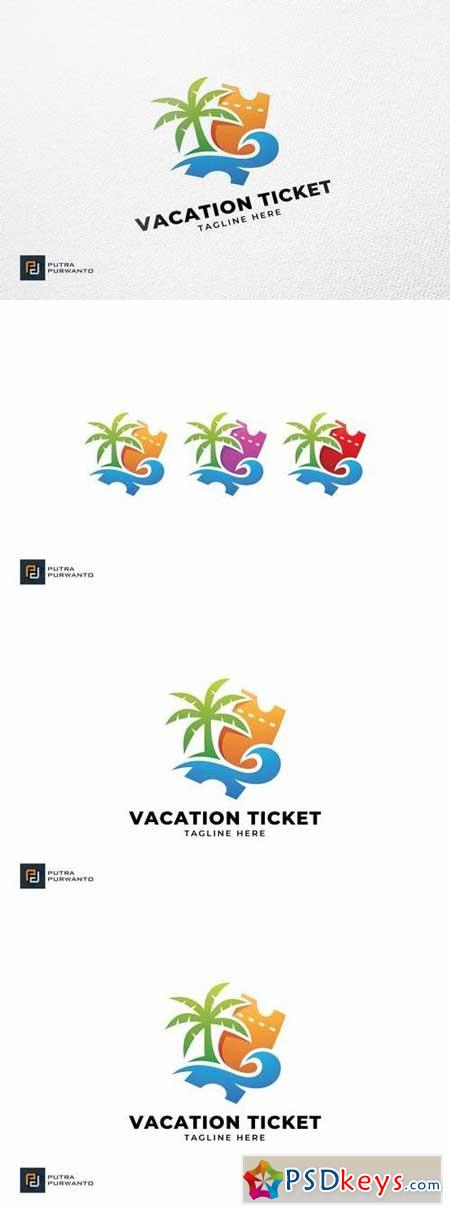 Vacation Ticket - Logo Template