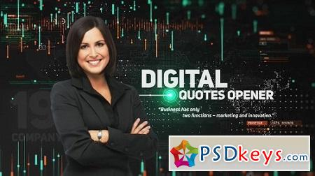 Digital Quotes Opener 22955631 After Effects Template