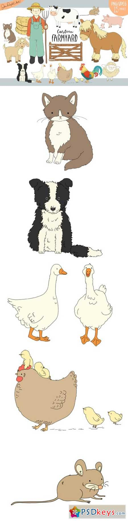Cartoon Farmyard Clip Art Illustrations 866430