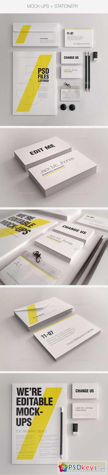 Realistic Stationery Mock-Up Set 1 - Corporate ID 3358091