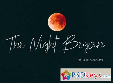 The Night Began Font