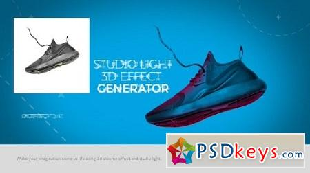 Studio Light 3D Effect Generator 20761601 After Effects Project