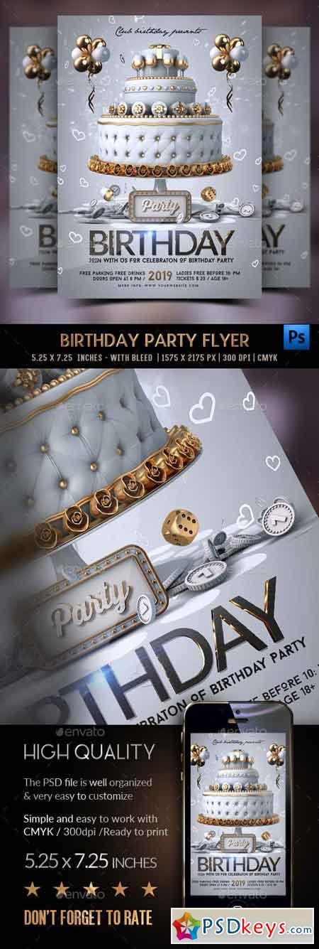 Birthday Party Flyer 23074146