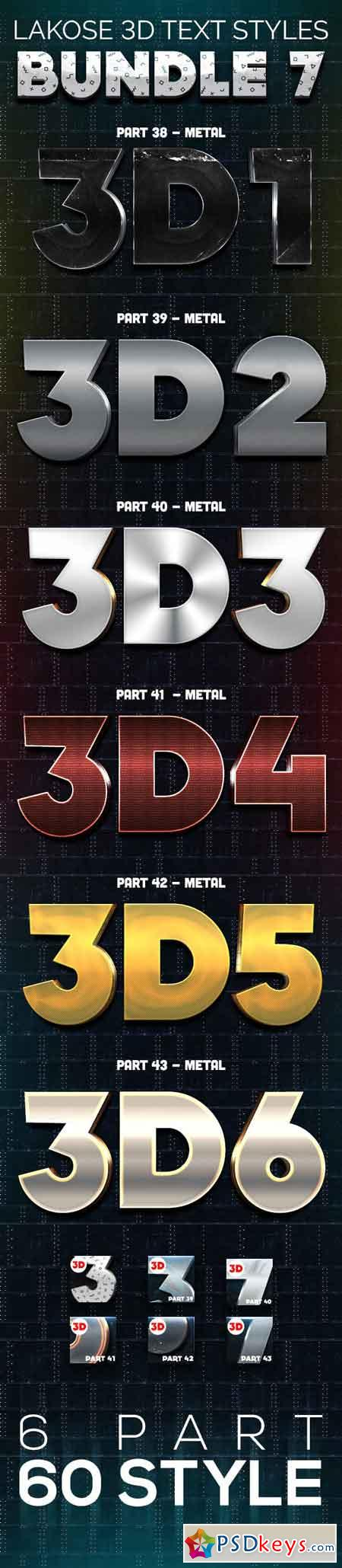 Lakose 3D Text Styles Bundle 7 23105049