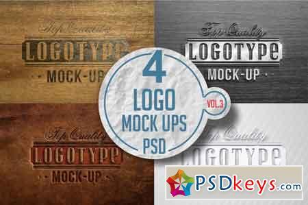 Logo Mock-up Pack Vol.4 3519155