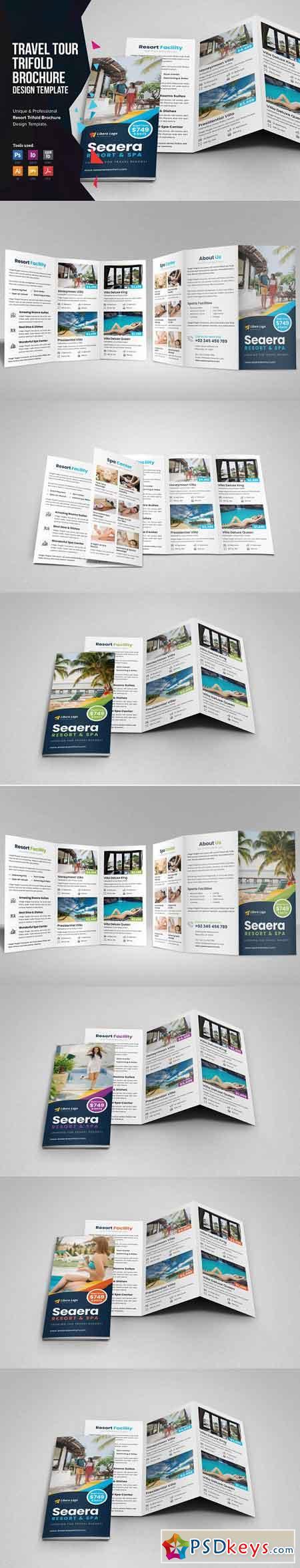 Travel Resort Trifold Brochure v2 3330031