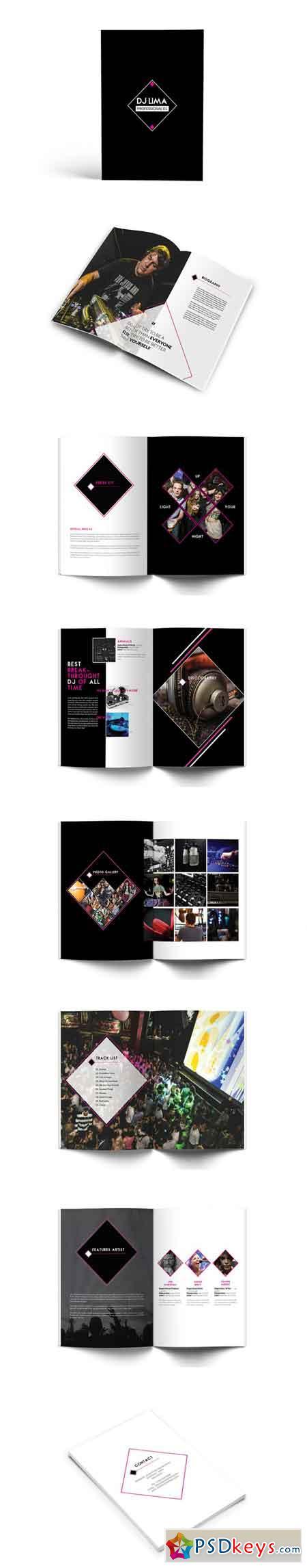 DJ Press Kit Brochure 3518579