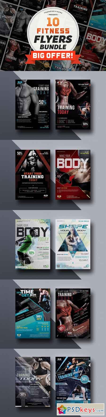 Fitness Flyer Template Bundle 3113711