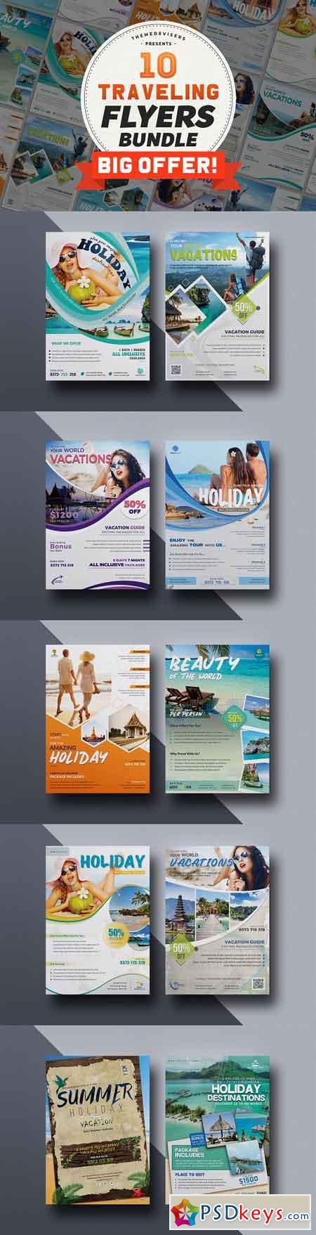 Travel & Tour Agency Flyer Bundle 3115293