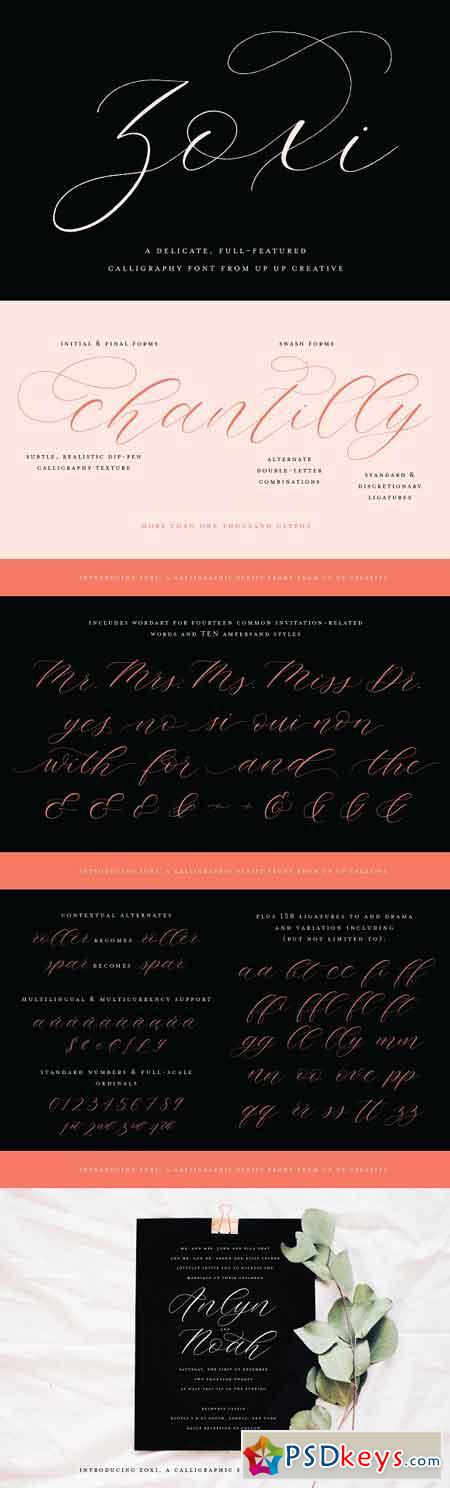 Zoxi, a Calligraphy Script Font 2861327