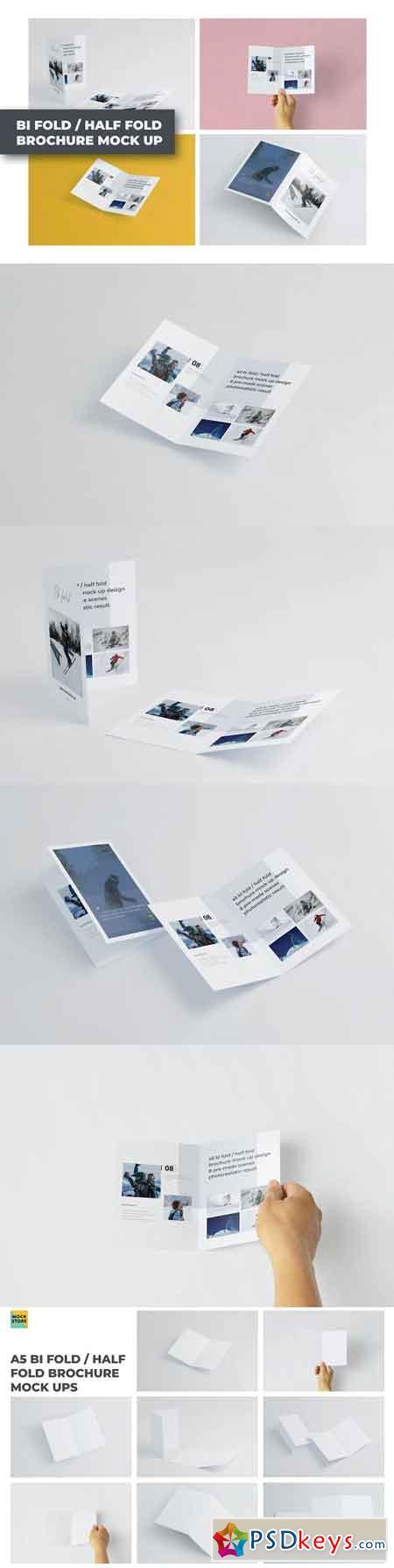 A5 Bifold Half-Fold Brochure Mockup 2564002