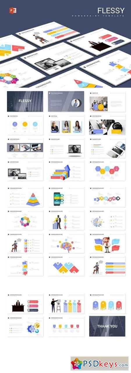 Flessy- Powerpoint, Keynote, Google Sliders Templates