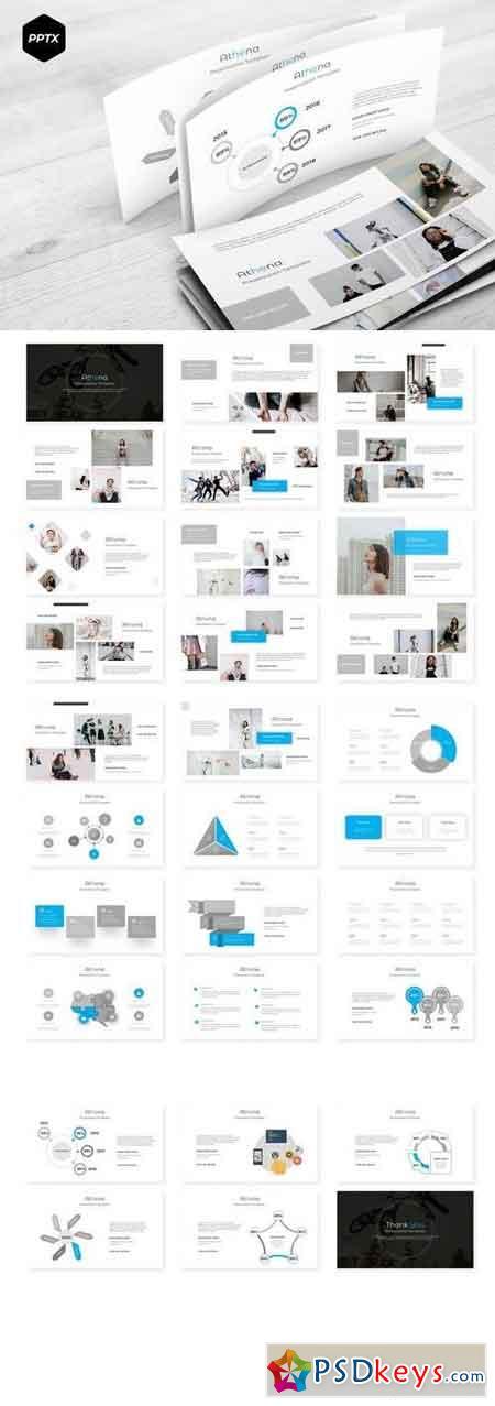 Athena - Powerpoint, Keynote, Google Sliders Templates