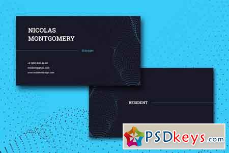 Resident Business Card Template