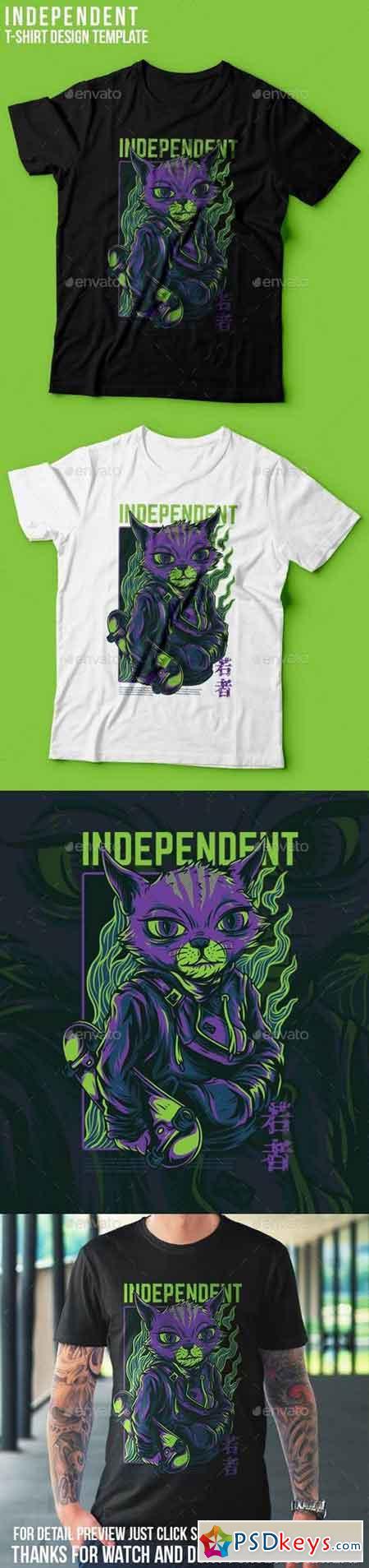 Independent Cat T-Shirt Design 23109812