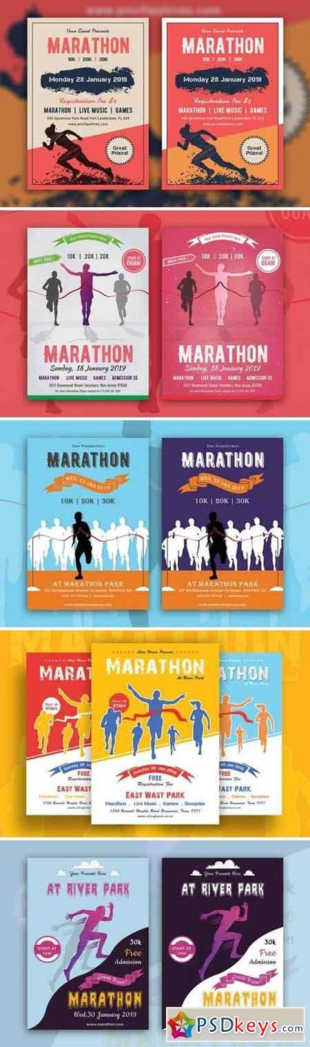 Marathon Event Flyer Bundle