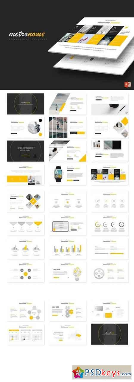 Metronome - Powerpoint, Keynote, Google Sliders Templates