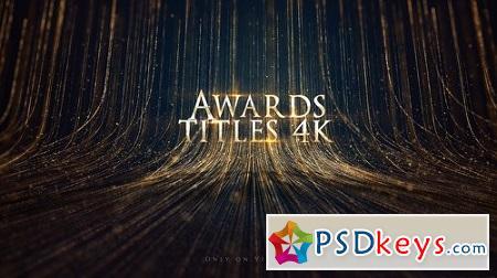 Awards Titles 4K and Awards Background Loop 4K 22399668 Download