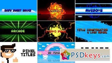 Pixel Titles Logo Constructors (Arcade Pack) V1.5 15990451