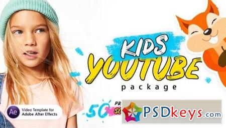 Videohive Kids Youtube Package For Ae V.1.3 ( Update 18.10.2018 ) 22298286