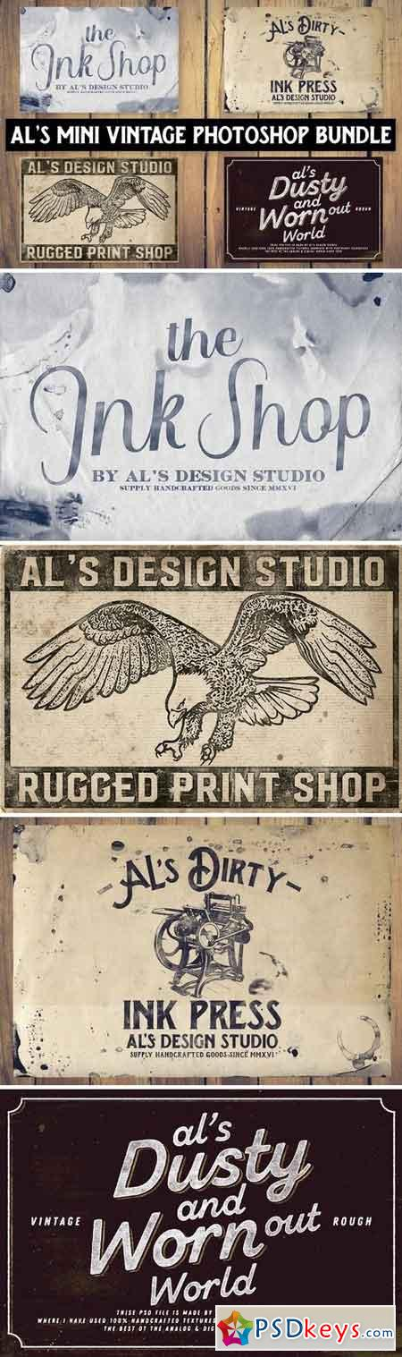 AL's Mini Photoshop Vintage Bundle 2142212