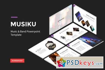 Musiku - Music And Band - Powerpoint, Keynote, Google Sliders Templates