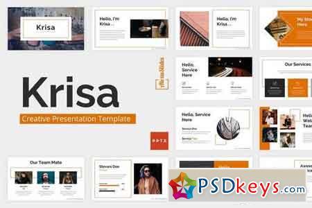 Krisa - Creative - Powerpoint, Keynote, Google Sliders Templates