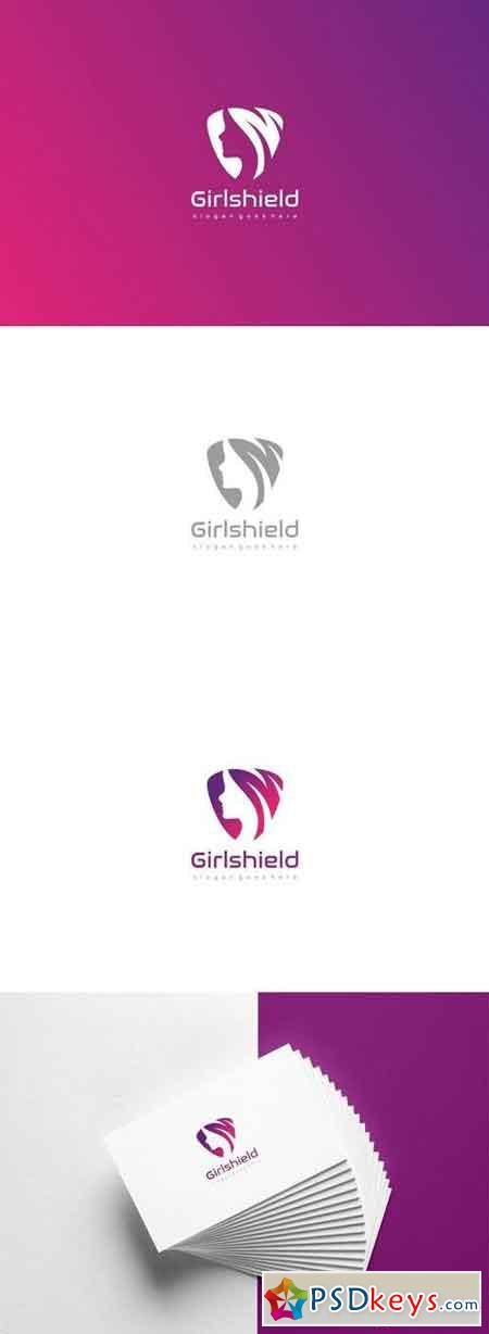 Girl Shield Logo