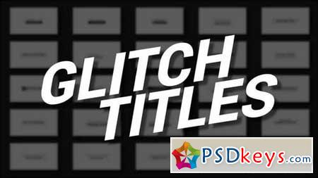 Glitch Titles 158781 After Effects Projects