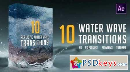 Water Wave Transitions Pack 2 158647 After Effects Projects