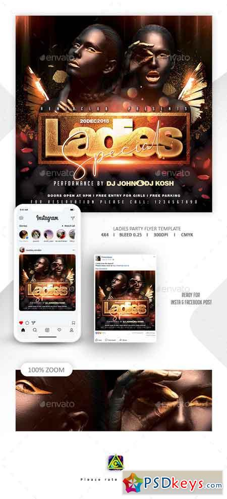 Ladies Night Flyer Template 23085483