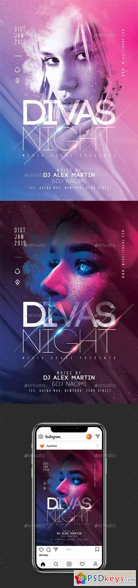 Divas Night Party Flyer 23085294