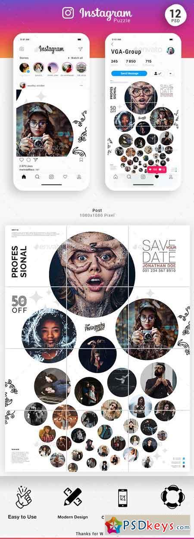 Instagram Puzzle Templates 23091578
