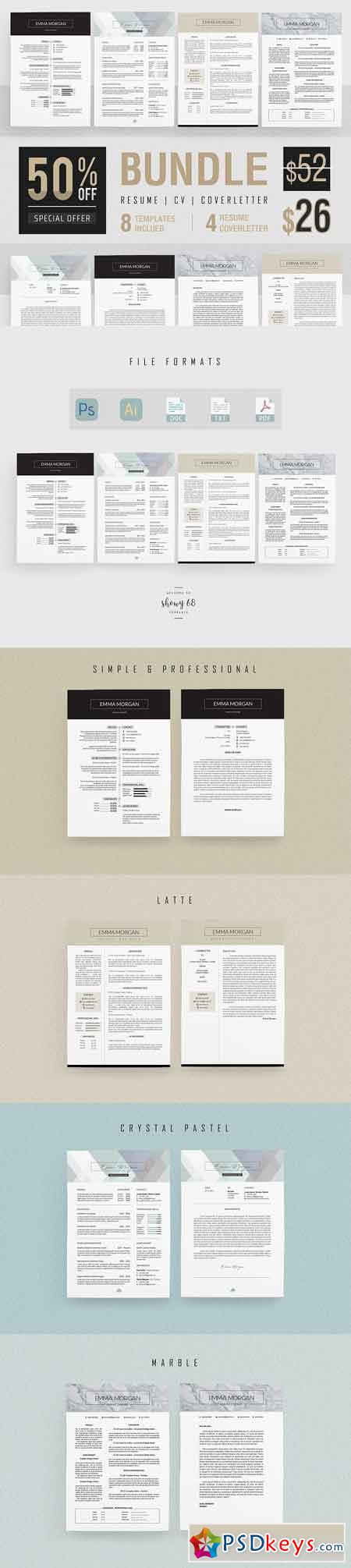 Professiona Resume BUNDLE Template M 3340104