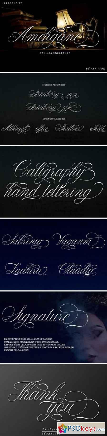 Anehgane Font