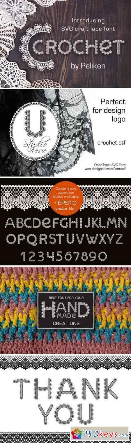 Crochet - svg craft lace font 188683