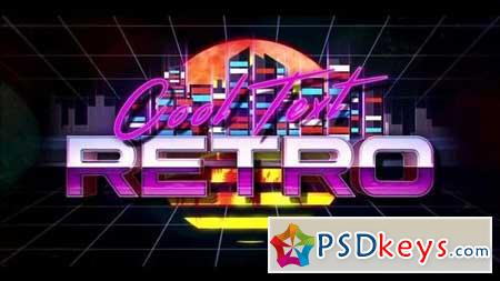 Retro Wave Logo 159893 After Effects Projects
