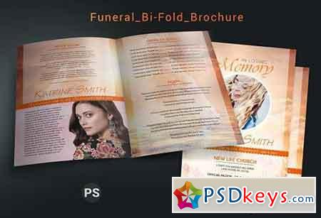 Funeral Bi-fold Brochure Template 3320605