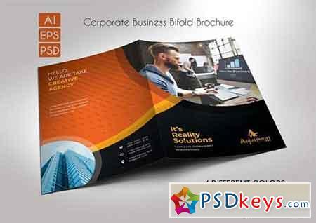 Corporate Business Bifold Brochure 3314123