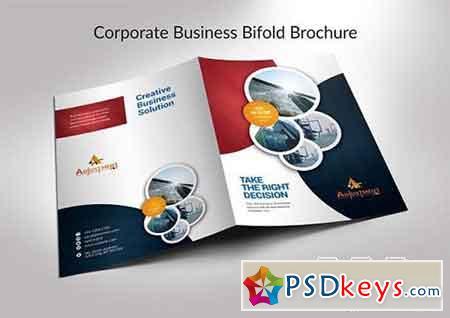 Corporate Business Bifold Brochure 3314009
