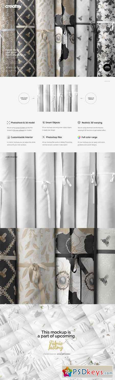 Fabric Rolls Mockup 40 FF v 6 3328450
