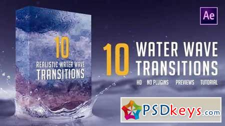 Water Wave Transitions Pack 3 159113 After Effects Projects