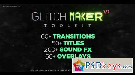 GlitchMaker Toolkit 350+ Elements 63531 Premiere Pro Templates