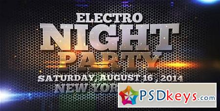 Electro Night Party 7836794 After Effects Project