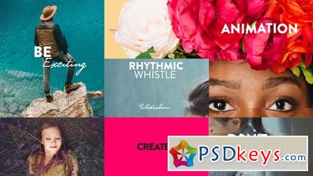Rhythmic Whistle Slideshow 20500741 After Effects
