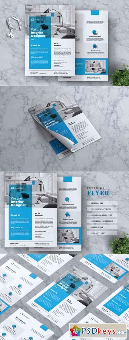Interior Design Flyer Vol 02 3327029