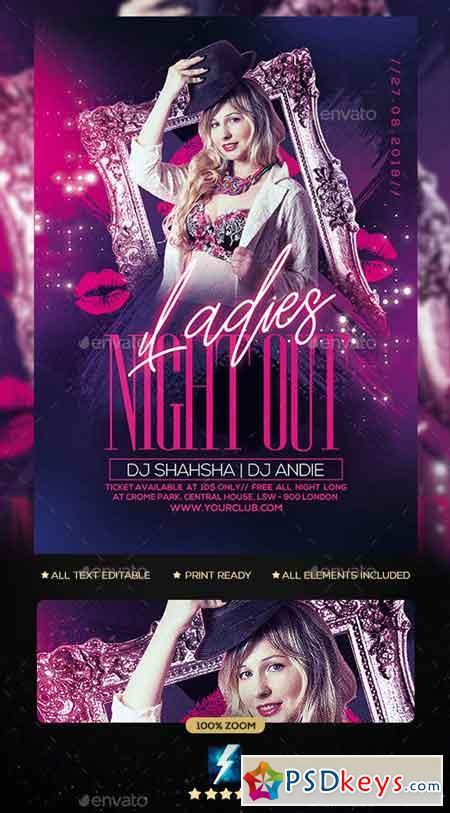 Ladies Night Party Flyer 23113869
