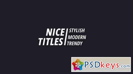 Modern Titles 160206 After Effects Projects